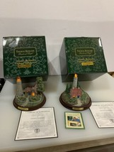 Pair Of Gorgeous Thomas Kinkade The Light Of Peace Light Up Lighthouse S... - $44.10