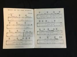 """Vtg 9""""x12"""" RICHARD MARX Hand Signed Autograph Hold On to the Nights Sheet Music image 2"""