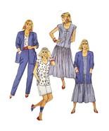 Misses Dress Top Pants McCalls 4697 Sewing Pattern Vintage 1990 Size 18 ... - $6.99