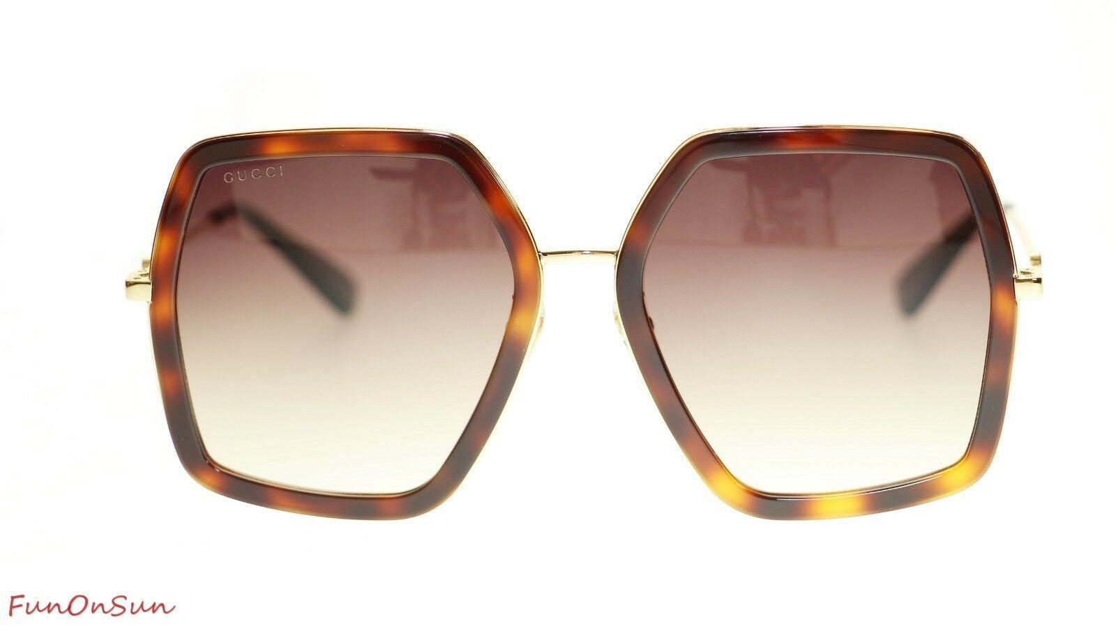 41f7d403c Gucci Women Design Sunglasses GG0106S 002 Havana Gold/Brown Gradient Lens  56mm - $202.73