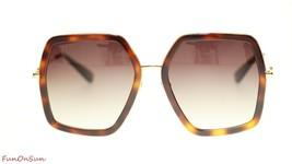 Gucci Women Design Sunglasses GG0106S 002 Havana Gold/Brown Gradient Len... - $202.73
