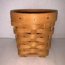 "Longaberger W1933 Basket W/ Liner 4 1/2"" 2008 - $10.00"