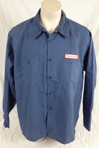 Teal Blue Colored Lincoln Tech Long Sleeve Work Shirt EWC Men's 3XL Regular - $19.99