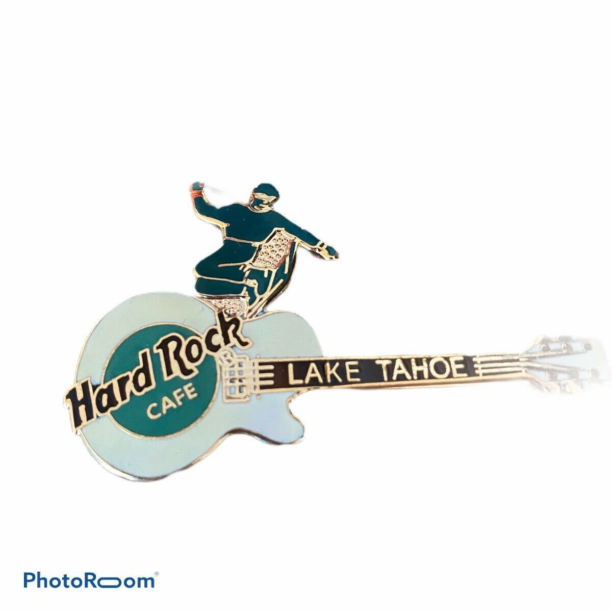 New Hard Rock Cafe Hotel Casino Vintage Lake Tahoe Collectible Pin Snowboarder  - $34.64
