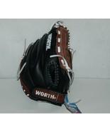 Worth Titan TS120 Baseball Softball Glove 12 Inches Brown Black - $50.99