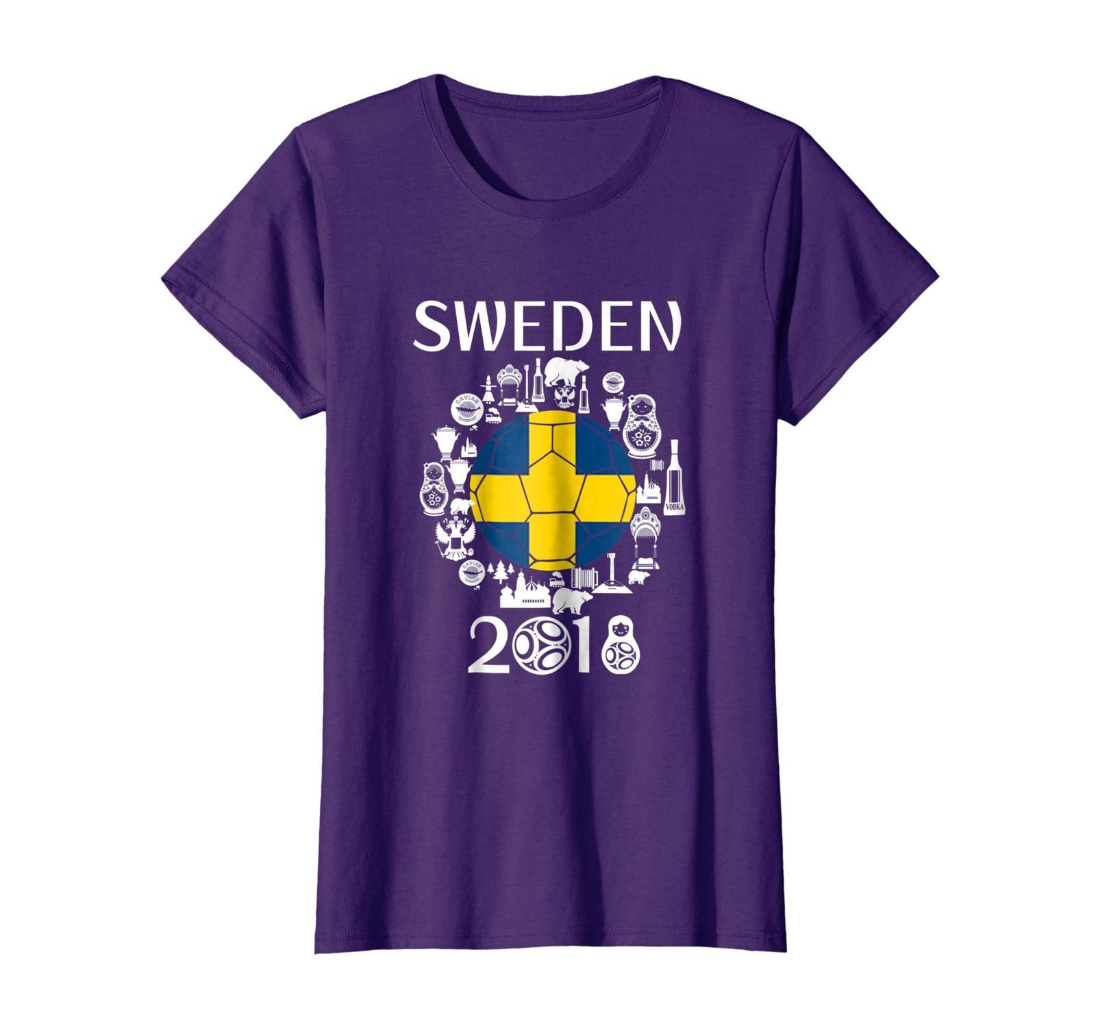 Sport Shirts - Sweden Soccer Jersey Tshirt World Football 2018 Gift Fan Wowen