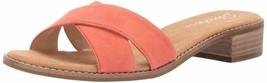 Skechers Women's Petaluma-Criss Cross Slide Sandal, Coral, 7 M - $22.80