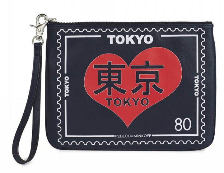 Rebecca Minkoff TRAVEL POUCH Wristlet Leather Tokyo - $54.70