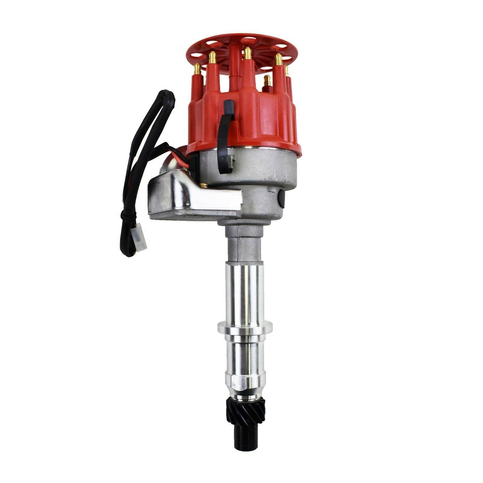 Pontiac Ready 2 Run R2R Distributor V8 301 326 350 387 400 421428 455, Red Cap