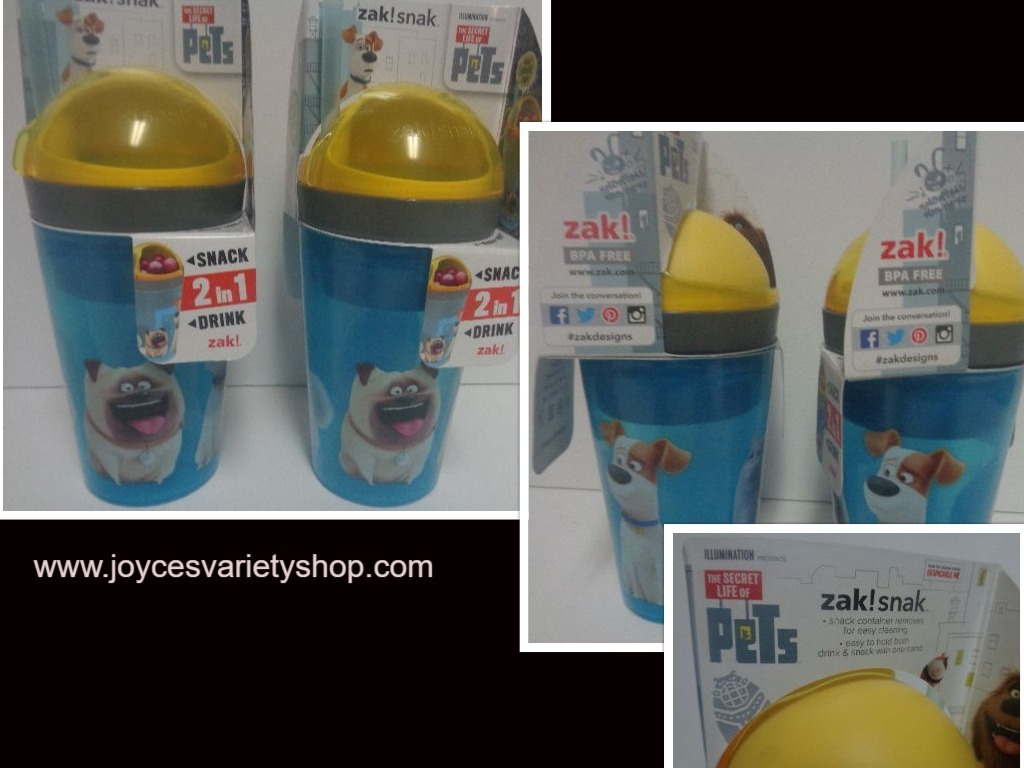 Pet 2 in 1 snack cups web collage