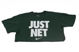 Men's Nike JUST NET Cotton T-Shirt Basketball Tee   Green White    XL - $16.99