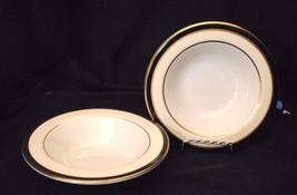 Set of Homer Laughlin Bowls Seville Cobalt in Cream with Cobalt Blue & Gold - $8.59
