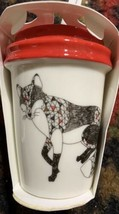 Starbucks Hot Cup Holiday Ornament New Red white Fox - $22.65