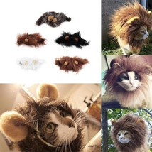 Pet Costume Dog Cat Lion Cap Dress Up Emulation Head Ears Hair Muffler S... - $7.98