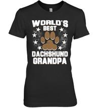 Mens Worlds Best Dachshund Grandpa Dog Owner T Shirt - $19.99