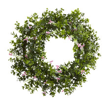"18"" Mini Ivy & Floral Double Ring Wreath w/Twig Base - €33,20 EUR"