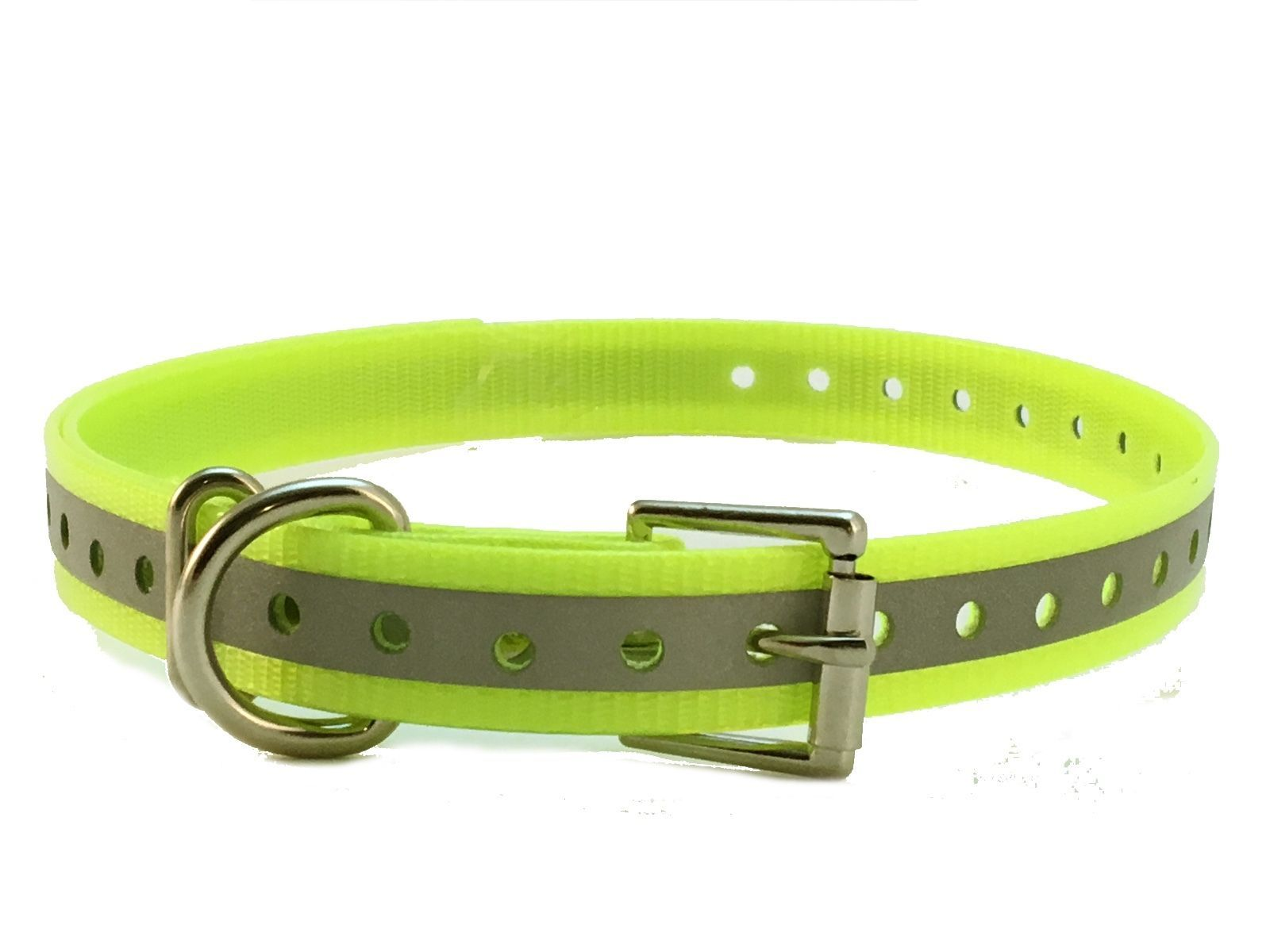 3/4 Reflective Strap For E Collar Garmin SportDOG PetSafe Reflective Yellow