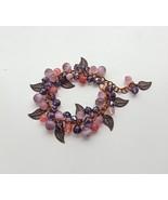 statement bracelet charm chunky pink-lilac-purple bracelet.  - $35.00