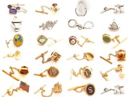 Vintage Tie Tack Pin*U PICK*Jewelry Lot*Wedding Formal Wear*Men's*Chain*... - $9.89+