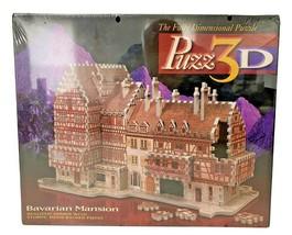 Vintage 1994 Wrebbit Bavarian Mansion 418-Piece 3D Puzzle #4464 - Sealed - $18.99