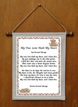 My True Love Hath My Heart {female} - Personalized Wall Hanging (503-1f) - $18.99