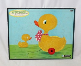 Vintage 1961 Whitman FUZZY WUZZY Duck Frame Tray Puzzle #4422 - Made in USA - $16.82
