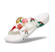 Women's Sandals | Serena Cross-Band Slide | Color Floral/White - $54.76+
