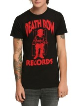 Officially Death Row Records Red Official Logo Licensed Tee Shirt Black New - $17.99