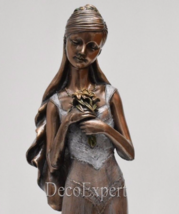 Statuette Wedding Bride with flowers Bronze Sculpture *Free Shipping Eve... - $78.21