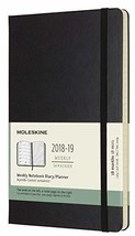 Moleskine Classic 18 Month 2018-2019 Weekly Planner, Hard Cover, Large 5... - $26.49