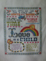 1984 Creative Expressions LOVE IS A CHILD Counted Cross Stitch SEALED Ki... - $11.88
