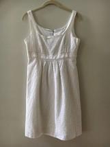 NWT Tahari White Cotton Sleeveless Lace Eyelet Dress Retail $138 Size 6 - $41.58