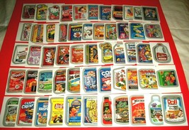 """2015 Wacky Packages Series 1 Silver Border """"Lot Of 55 Stickers"""" Half-A-Set WOW! - $32.54"""