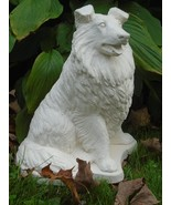 Concrete statue, Rough Coat Collie dog, memory garden, sealed or hand pa... - $99.50