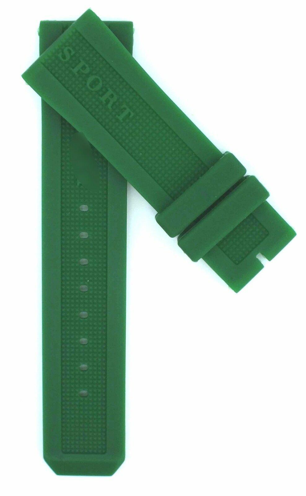 Compatible Burberry Sport BU7764 23mm Green Diver Rubber Watch Strap BRR101