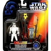 Star Wars Deluxe Crowd Control Stormtrooper 1996 Action Figure by Kenner... - $34.64