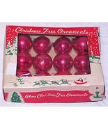 "Vintage 1"" Mini Red Glass Christmas Ornaments IOB  #24 - Japan - $12.99"