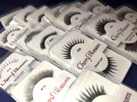 CHERRY BLOSSOM FALSE EYELASHES CHOOSE 1 TO 10 PAIRS OF QUATITIES #73-#304 - $1.57+