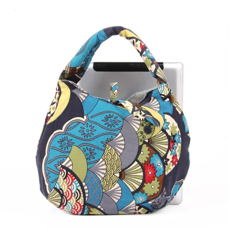 Free shipping Printed cotton cloth handmade handbag fashion bag