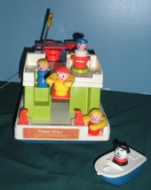 Vintage Fisher Price #985 Play Family Houseboat Complete/NEAR MINT! (M) image 4