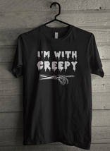 I'm With Creepy  Halloween - Custom Men's T-Shirt (4732) - $19.13+