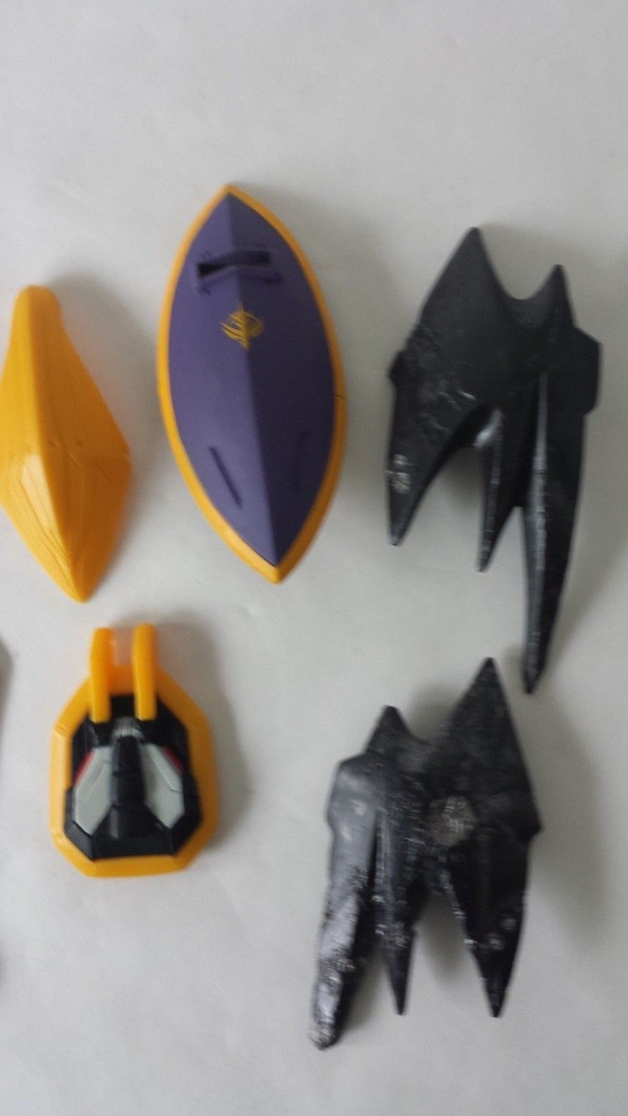 """Lot of 11 Gundam Transformer Like Soldier Shields and Misc. items 2"""" to 4"""""""
