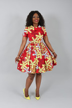African  clothing : NEW CHARRY dress handmade from authentic super wax p... - $135.00