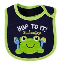 Waterproof Baby Burp Cloths Infant Dribbler Nest Solutions Bibs Frog Set of 3 image 2