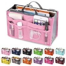 Organizer Insert Bag Women Nylon Travel Insert Organizer Handbag Purse L... - $15.00