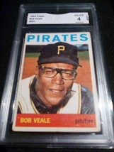 1964 Topps Bob Veale GMA Graded 4 VG-EX Baseball Card Number 501 - $9.99