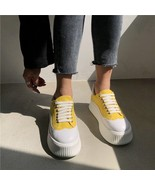 COOTELILI Flats Canvas Shoes For Women Creepers Ladies Flat Platform Sho... - $30.80