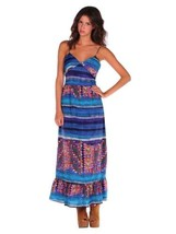NWT ROMEO & JULIET COUTURE SPAGHETTI STRAP MULTI-COLORED PRINT MAXI DRESS M - $48.49
