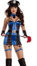 Sexy Starline Cop Blue & Black Garter Dress 5 Piece Deluxe Costume Set image 2