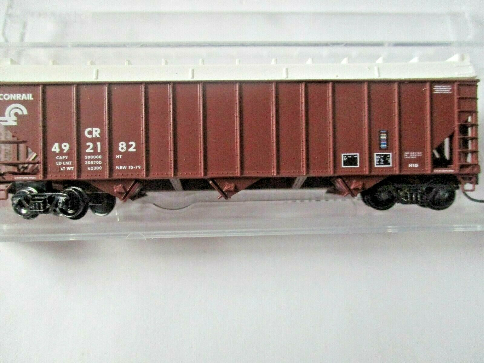 Micro-Trains # 10800410 Conrail 100-Ton 3-Bay Open Hopper with Topper N-Scale